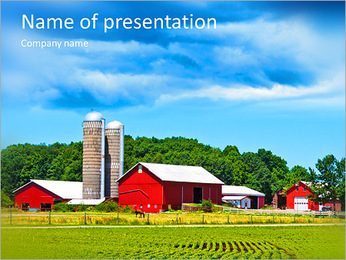 There comes a hurricane American village PowerPoint Template