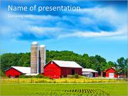 There comes a hurricane American village PowerPoint Templates
