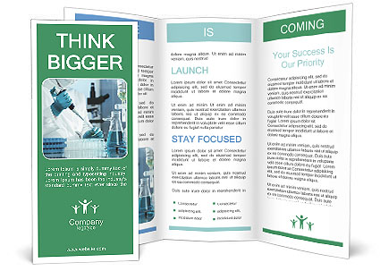 Experts analyze in the laboratory Brochure Template & Design ID ...