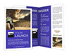 Ruined ancient Greek amphitheater and helmet Brochure Templates