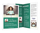 Little girl with a keyboard delight Brochure Template