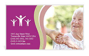 A helping hand for seniors Business Card Templates