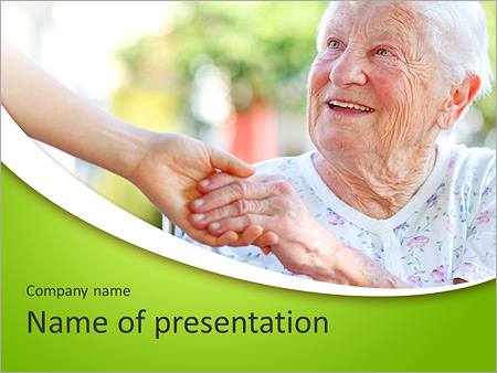 A helping hand for seniors powerpoint template backgrounds id a helping hand for seniors powerpoint template toneelgroepblik Gallery