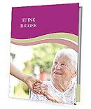Рука помощи для пожилых людей Презентационные проспекты