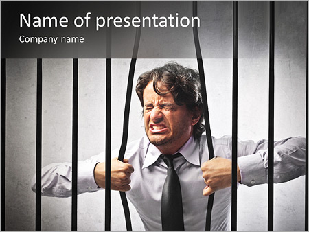 Jail powerpoint template smiletemplates businessman in prison powerpoint template toneelgroepblik Image collections