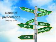 Question Road Signs PowerPoint Templates