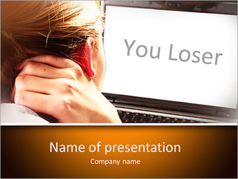 Screen with Sign You Loser PowerPoint Template