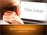 Screen with Sign You Loser PowerPoint Templates