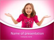 Cute Schoolgirl PowerPoint Templates