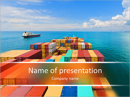 Port in Singapore PowerPoint Template, Backgrounds & Google Slides ...