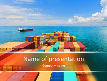 Port in Singapore PowerPoint Template