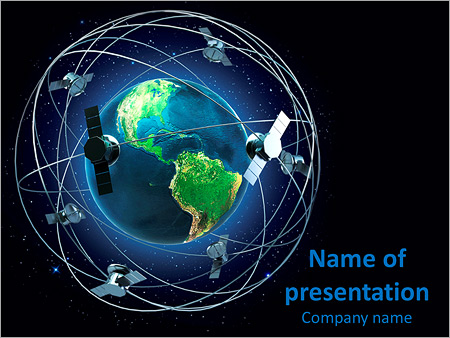 earth satellites powerpoint template backgrounds google slides