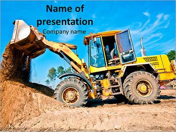 Heavy Loader Machine PowerPoint Template