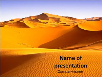 Golden Sahara PowerPoint Template