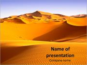 Golden Sahara PowerPoint Templates