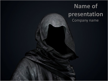 Scary Death PowerPoint Template Backgrounds Google Slides ID