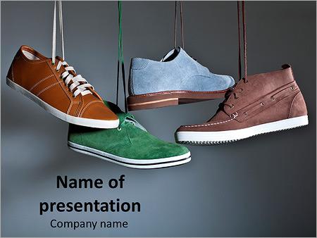 shoes - powerpoint template - smiletemplates, Presentation templates