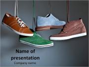 Male Shoes Modèles des présentations  PowerPoint