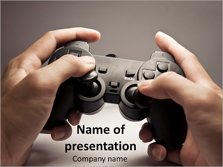 Playstation Game Powerpoint Template Backgrounds Google Slides