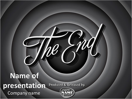 the end of the movie powerpoint template backgrounds google