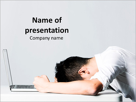 frustrated student powerpoint template & backgrounds id 0000011405, Presentation templates