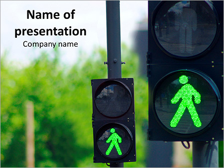 Green Traffic Light Powerpoint Template Backgrounds Google Slides