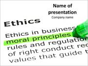Highlight Major Moral Principles PowerPoint šablony