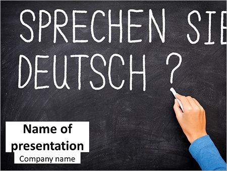 german as foreign language powerpoint template backgrounds google
