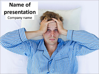 Man Suffering from Insomnia PowerPoint Template