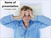Man Suffering from Insomnia PowerPoint Templates