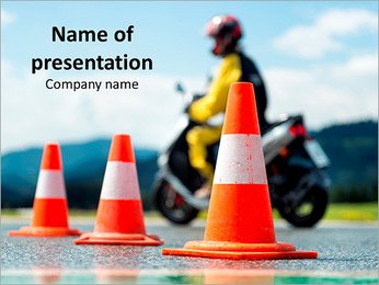 Motorcycle School Training PowerPoint Template