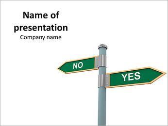 Yes and No Road Signs PowerPoint Template