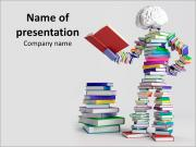 Reader Made of Books Шаблоны презентаций PowerPoint