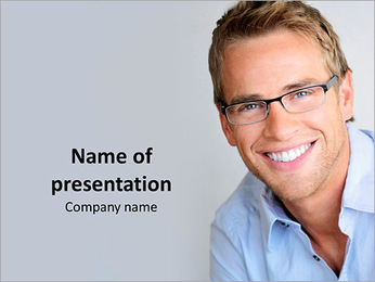 Handsome Manager PowerPoint Template