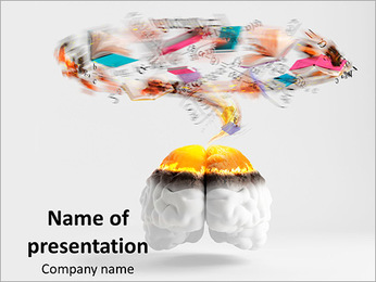 Abstract Human Brain PowerPoint Template