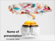 Abstract Human Brain PowerPoint Templates