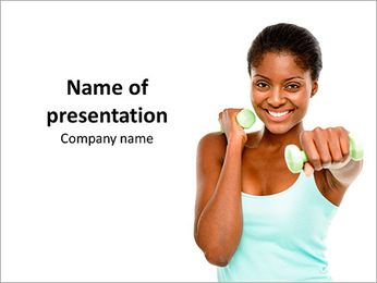 Sporty Afro-American Girl PowerPoint Template