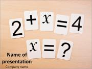 Educational Math Game Szablony prezentacji PowerPoint