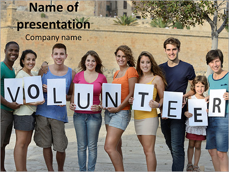 Volunteer organization powerpoint template backgrounds google volunteer organization powerpoint template toneelgroepblik