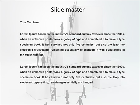 people climbing career ladder powerpoint template backgrounds