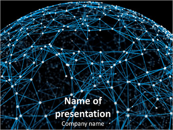 Scientific Sphere PowerPoint sunum şablonları