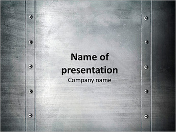 Steel Panel PowerPoint Template
