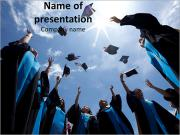 Celebrating Graduates PowerPointプレゼンテーションのテンプレート