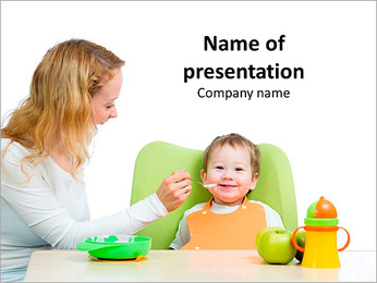 Mama Feeding Baby PowerPoint Template