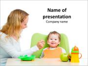 Mama Feeding Baby PowerPoint Templates