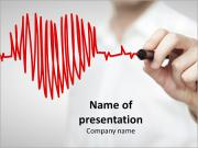 Doctor Drawing Red Heartbeat Szablony prezentacji PowerPoint