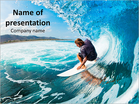 Surfing In Hawaii Powerpoint Template Backgrounds Google Slides