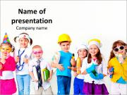 Kids Dreaming of Future Profession Modèles des présentations  PowerPoint