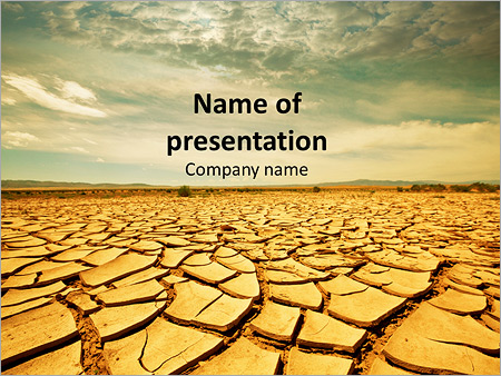 Drought soil powerpoint template backgrounds id 0000011616 drought soil powerpoint templates toneelgroepblik