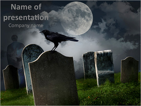 Scary Graveyard Powerpoint Template Backgrounds Id 0000011617
